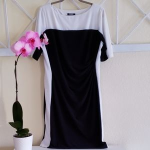 Chaps slimming color block dress size XL